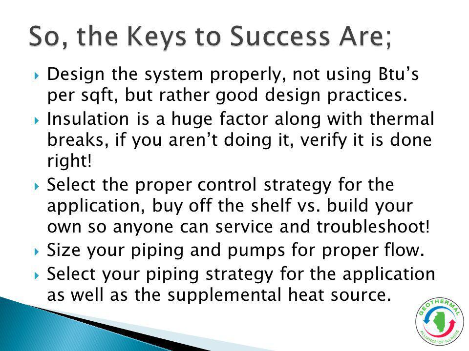 Design the system properly, not using Btus per sqft, but rather good design practices. Insulation is a huge factor along with thermal breaks, if you a
