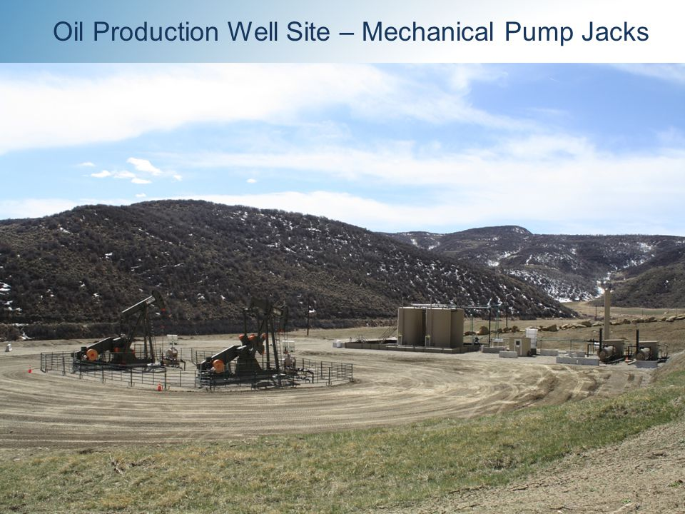 14 Oil Production Well Site – Mechanical Pump Jacks