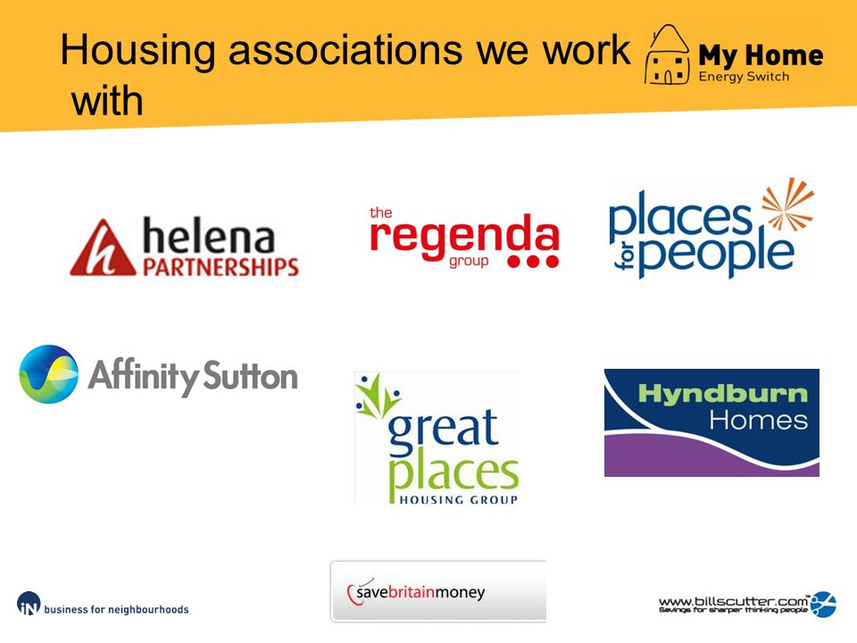 Housing associations we work with