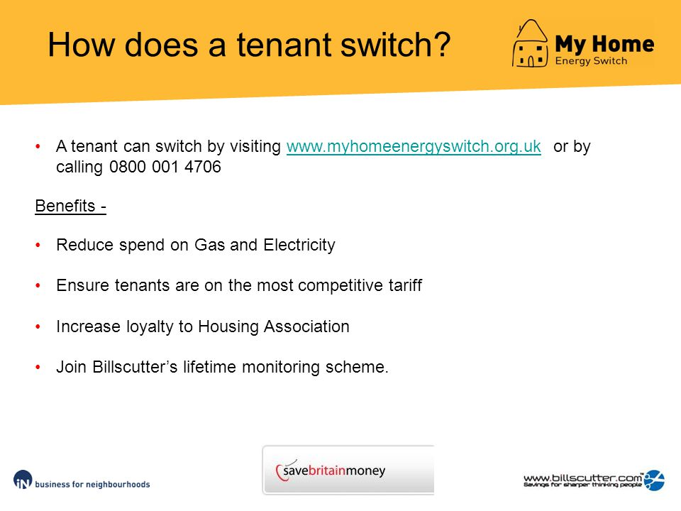 How does a tenant switch.