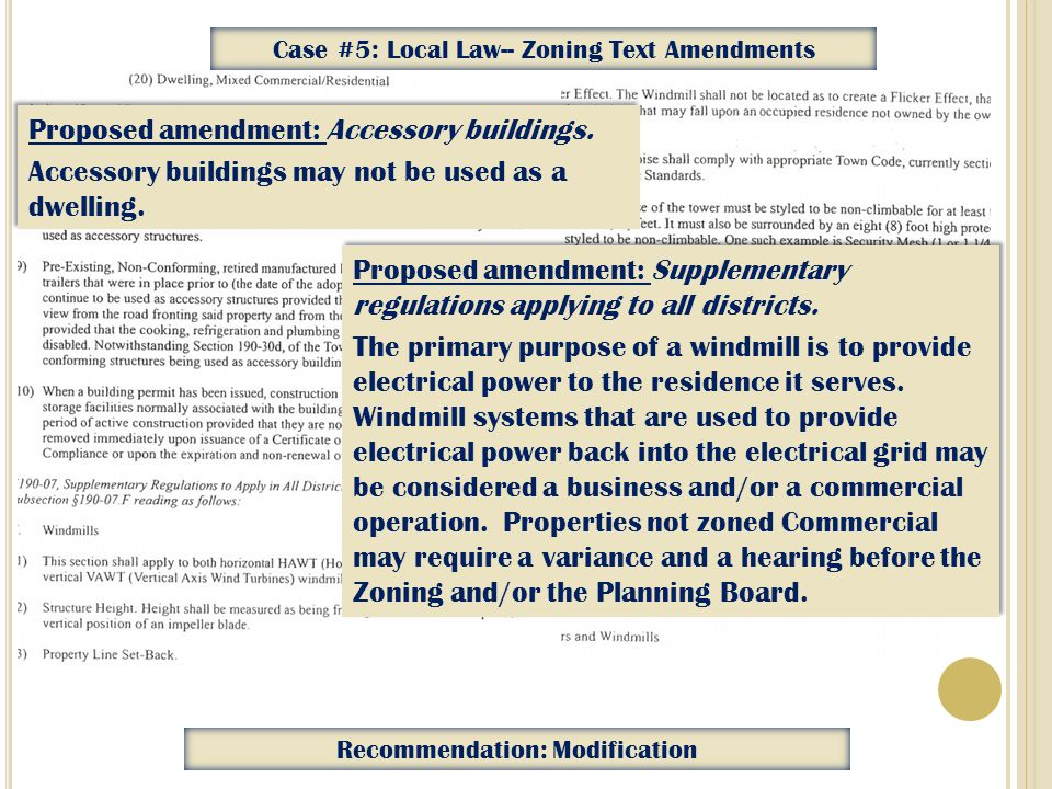 Proposed amendment: Supplementary regulations applying to all districts.