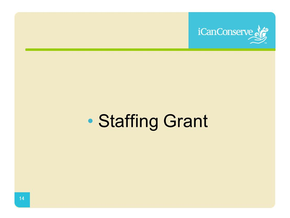 Staffing Grant 14