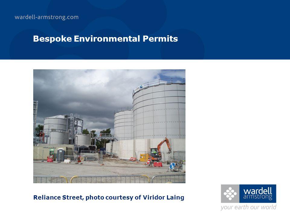 Bespoke Environmental Permits Reliance Street, photo courtesy of Viridor Laing