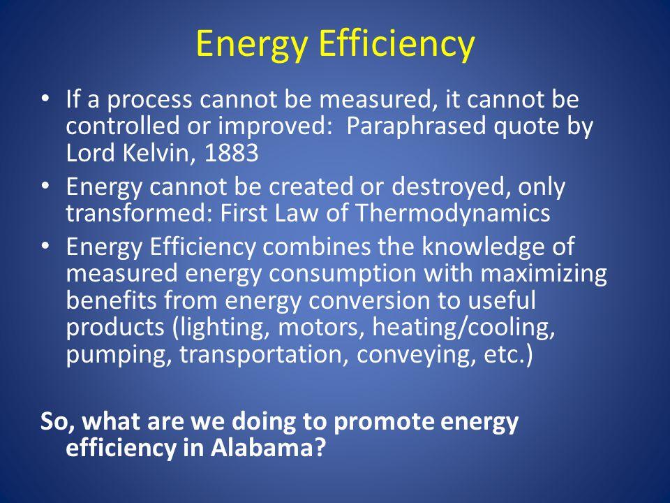 Energy Efficiency – Some Key Efforts Permanent Joint Legislative Committee on Energy - PJLCOE NGA Policy Academy Governor Bentley – EO #25 ADECA – Energy Division Alabama Technology Network