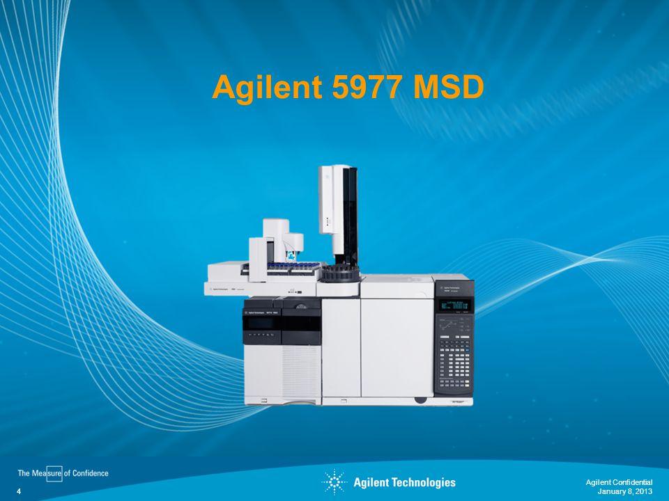 Agilent 5977 MSD January 8, 2013 Agilent Confidential 4