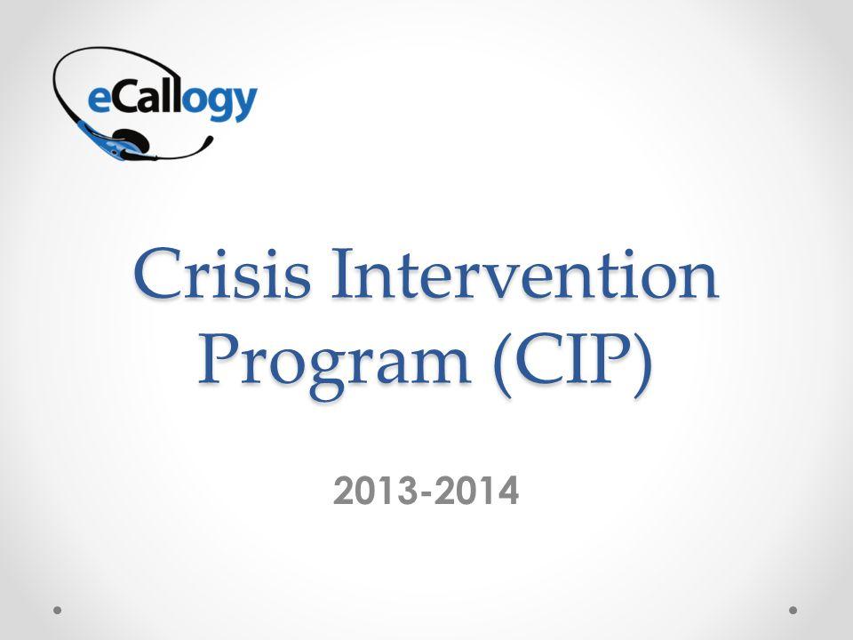 Crisis Intervention Program (CIP) 2013-2014