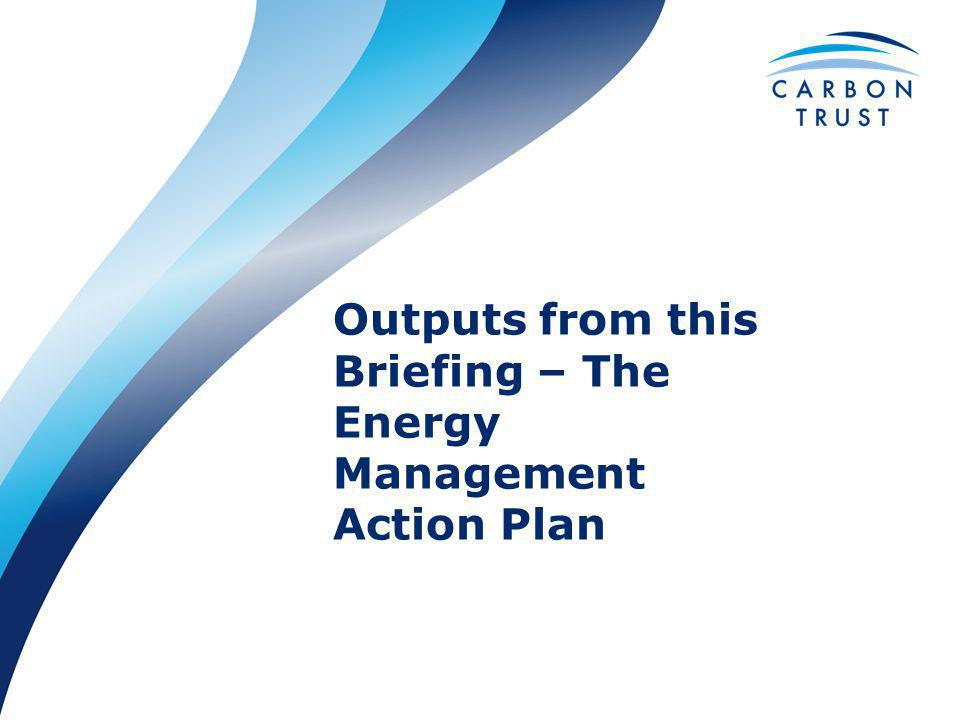 Outputs from this Briefing – The Energy Management Action Plan