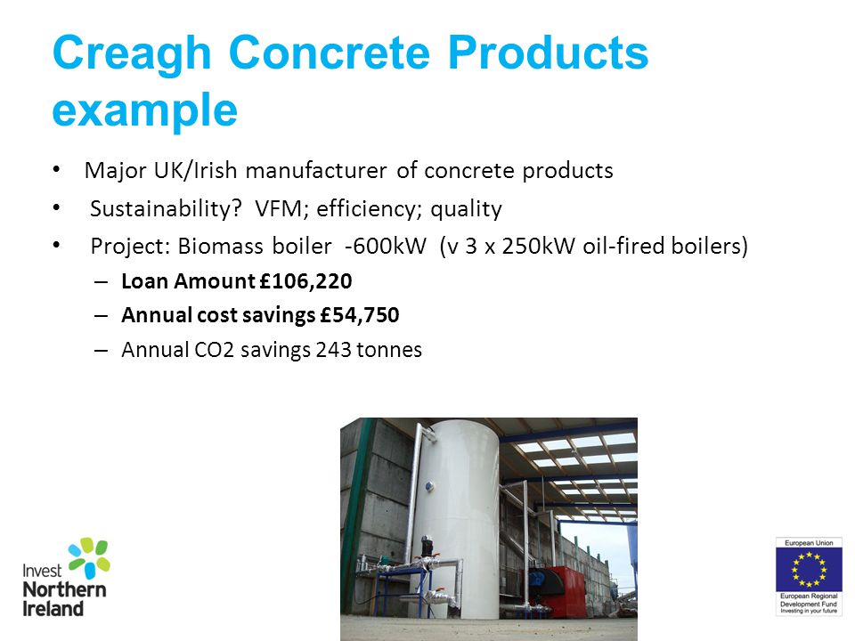 Creagh Concrete Products example Major UK/Irish manufacturer of concrete products Sustainability.