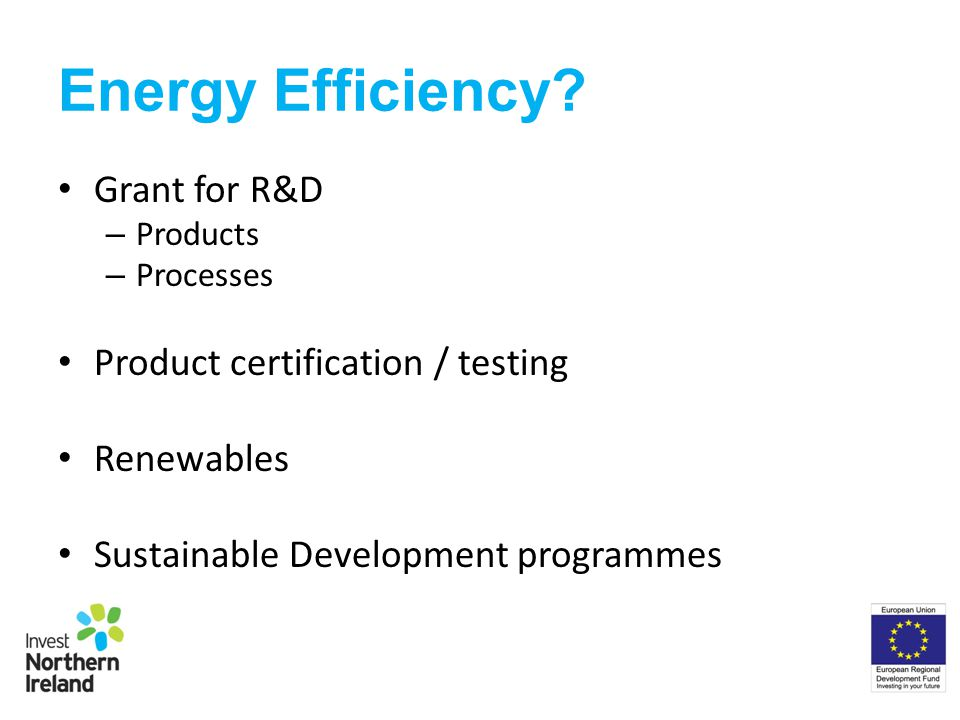 Energy Efficiency.