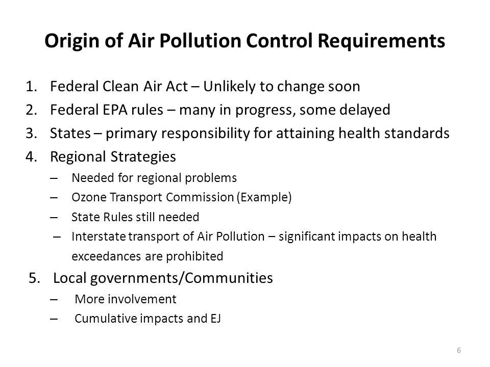 Ozone Transport Commission (OTC) Regional Control Strategies NO x Sources: Model Rules/MOUs: 1.
