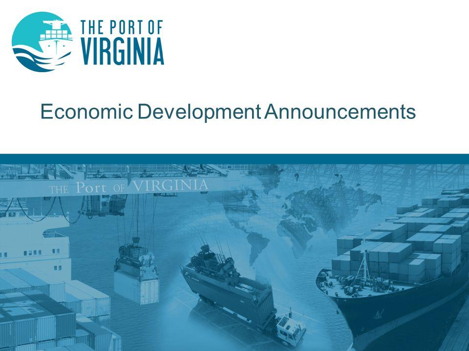 Economic Development Announcements