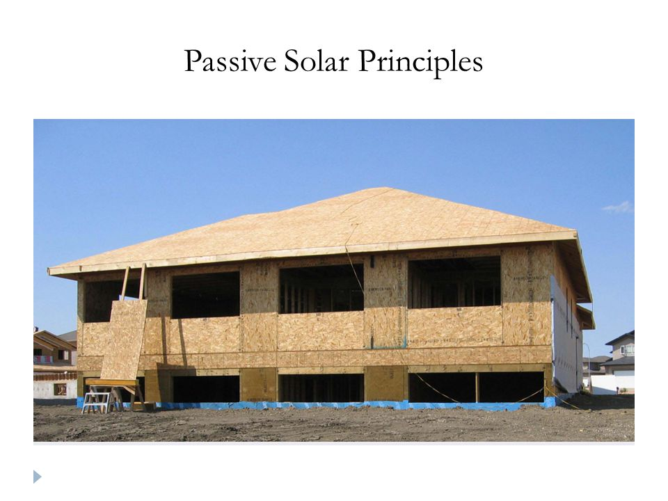 Passive Solar Principles