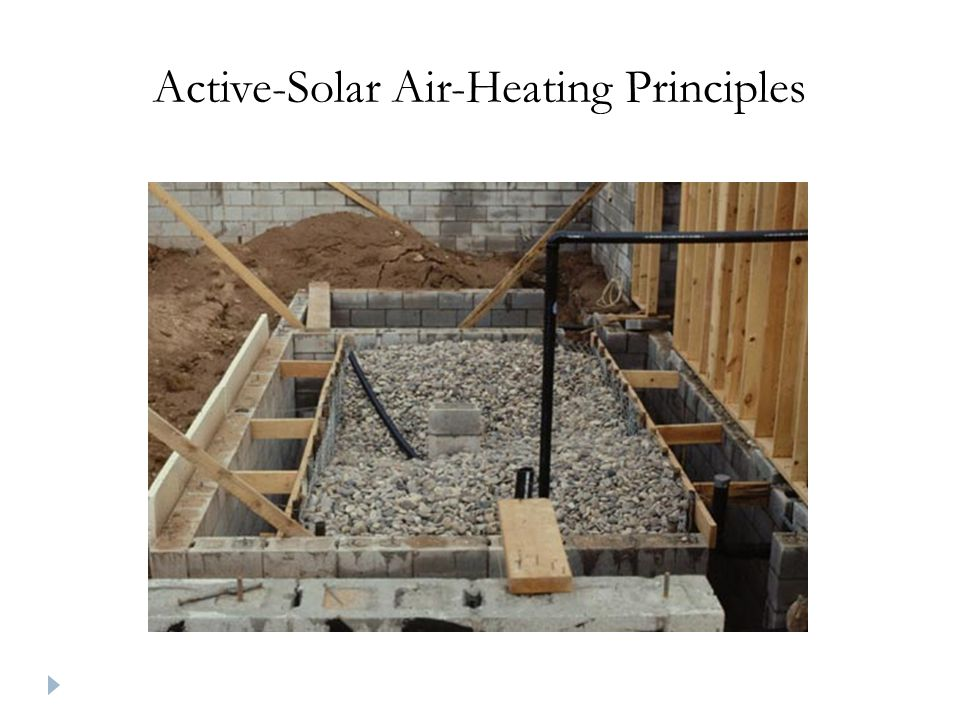 Active-Solar Air-Heating Principles