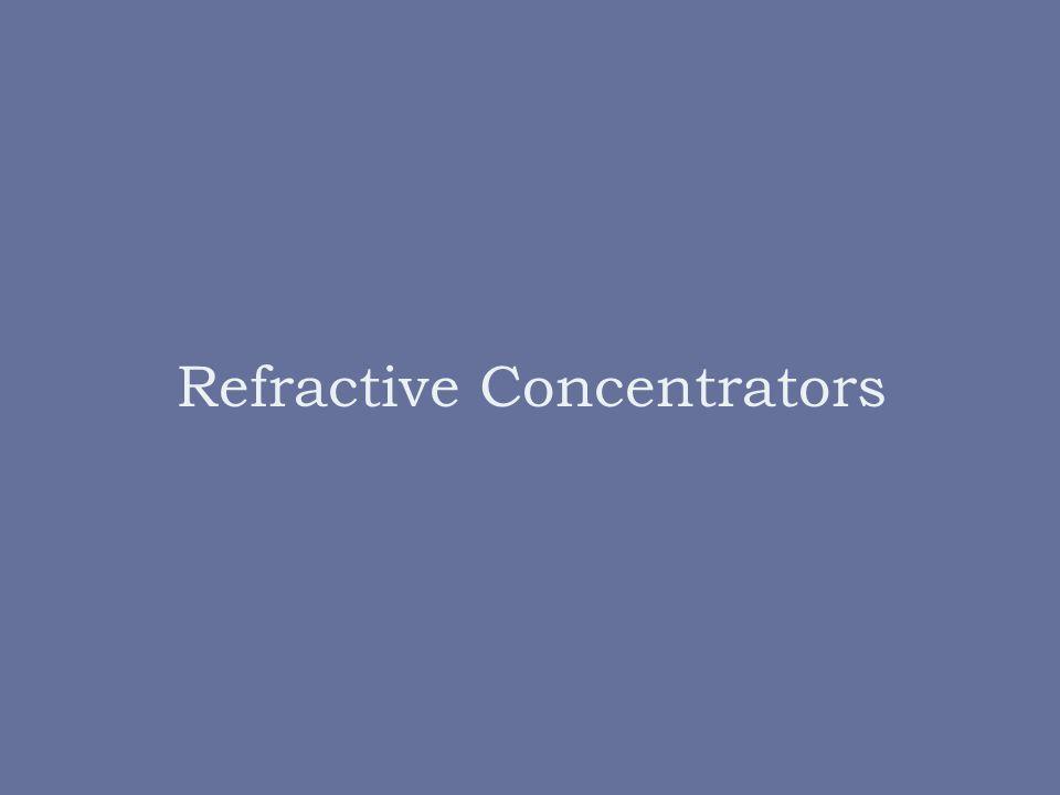 Refractive Concentrators