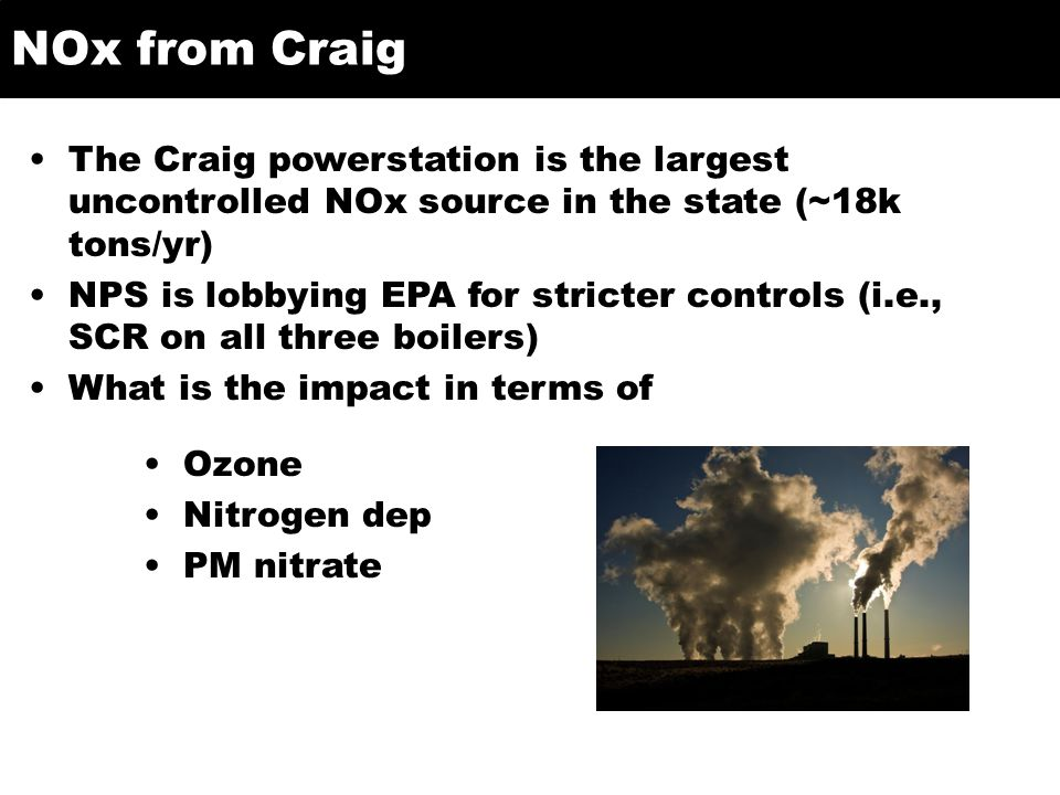Approach Reduce NO and NO2 emissions from Craig w.r.t.