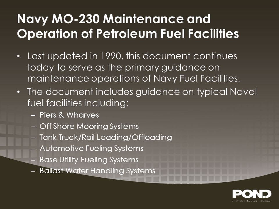 Army TM 5-678 Repairs & Utilities: Petroleum, Oils, and Lubricants (POL) Last officially updated in 1965.