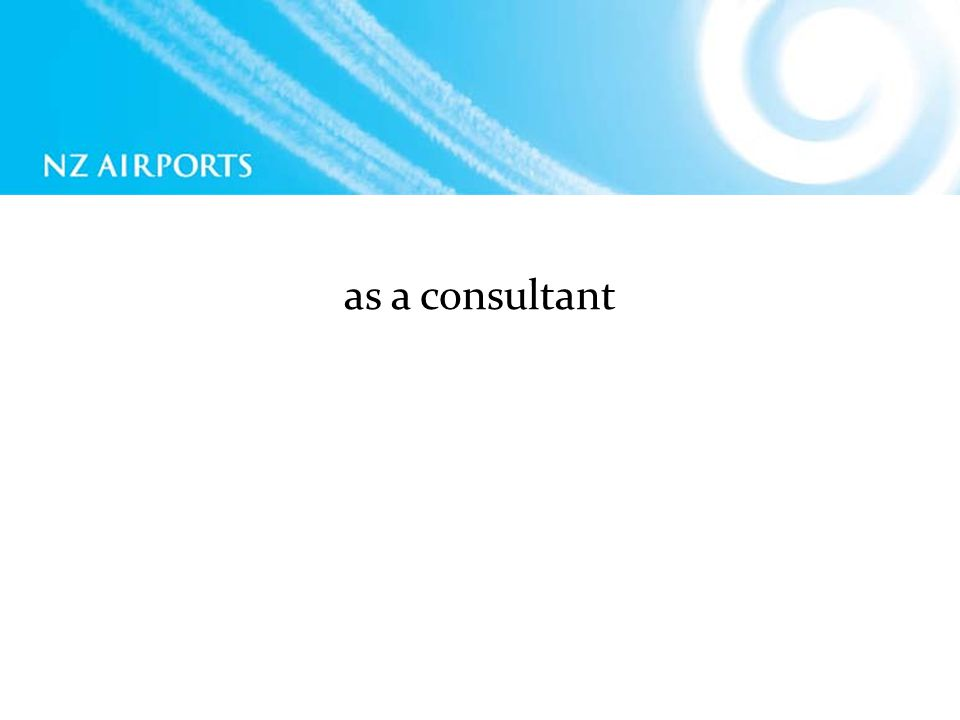 as a consultant