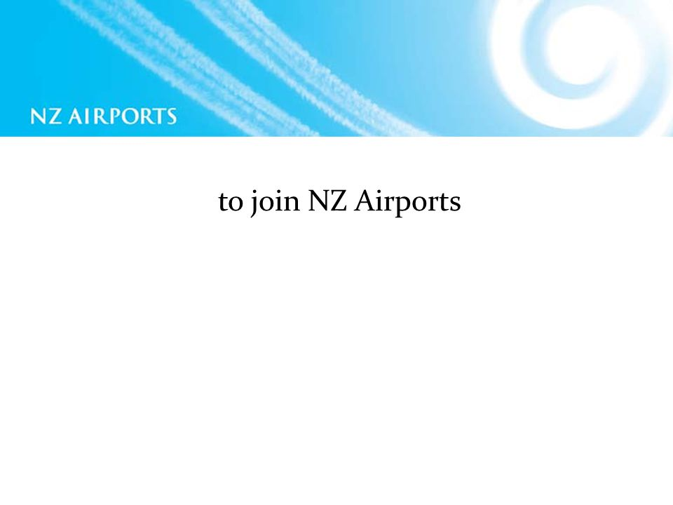 to join NZ Airports