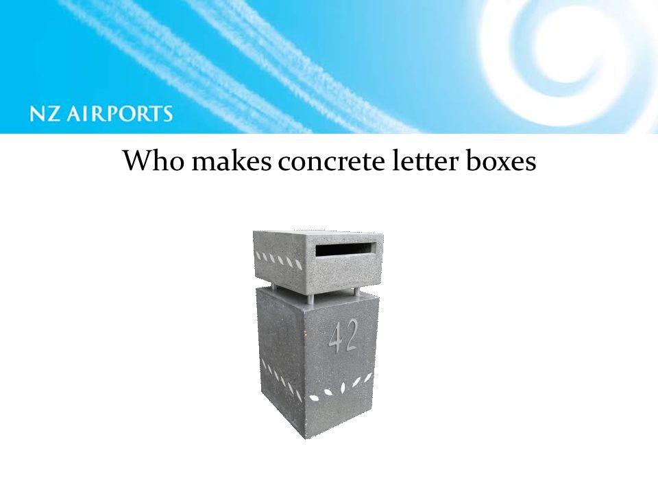 Who makes concrete letter boxes