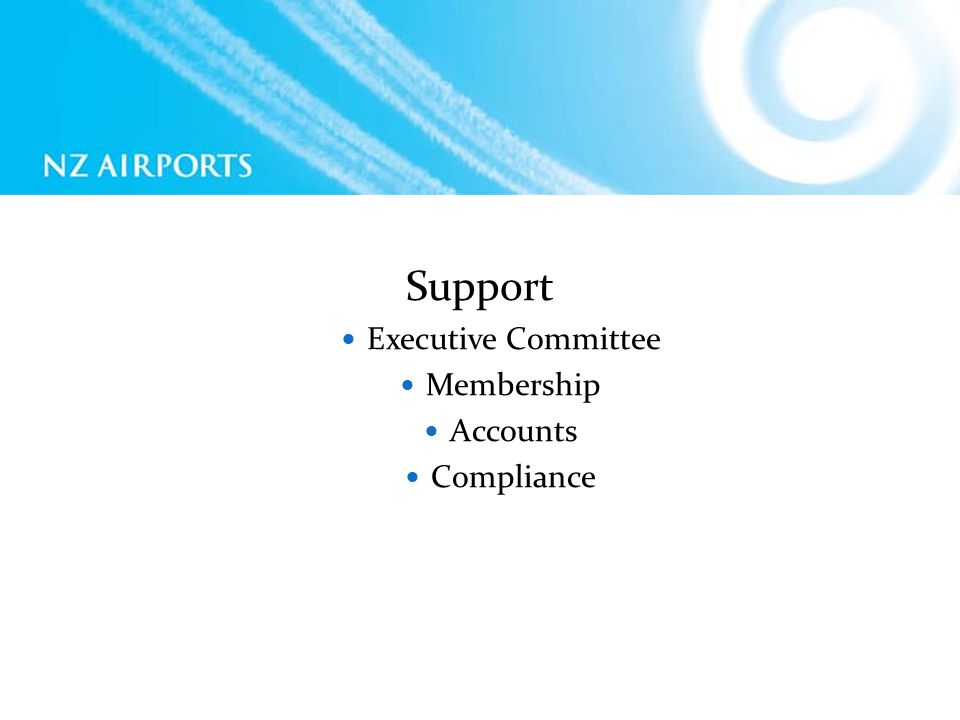 Support Executive Committee Membership Accounts Compliance