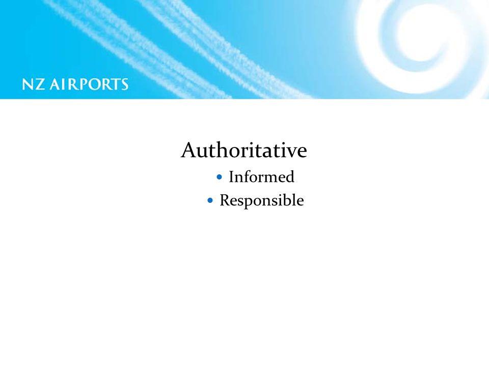 Authoritative Informed Responsible
