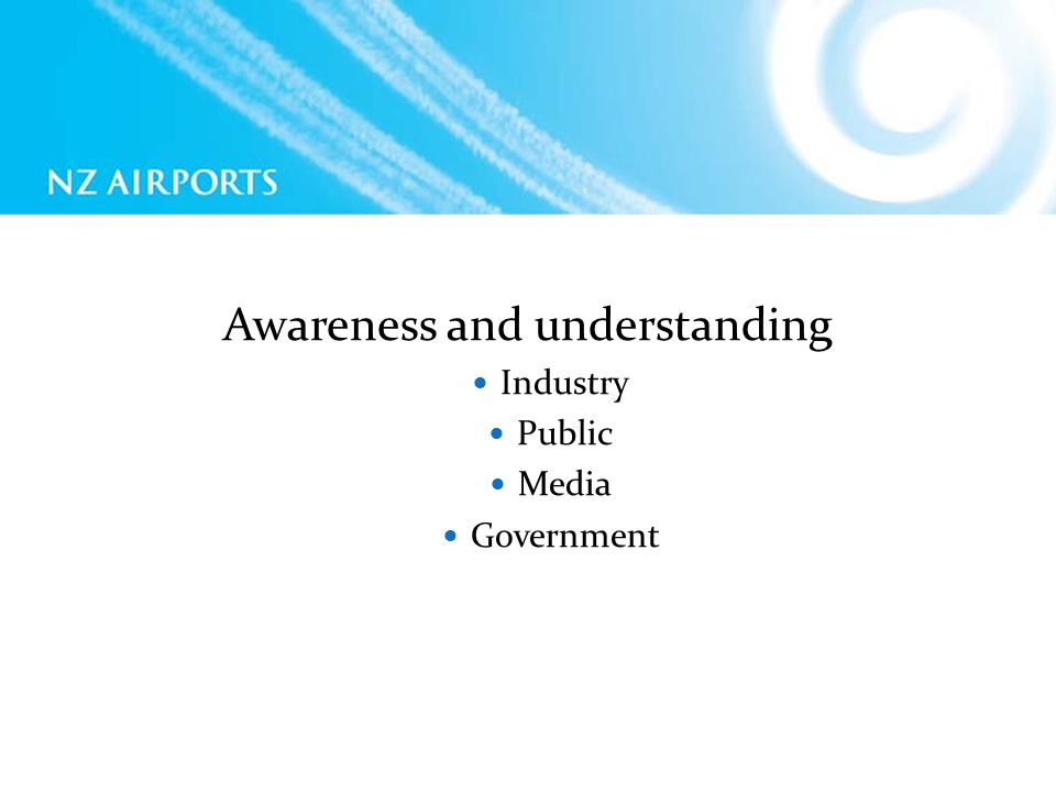 Awareness and understanding Industry Public Media Government