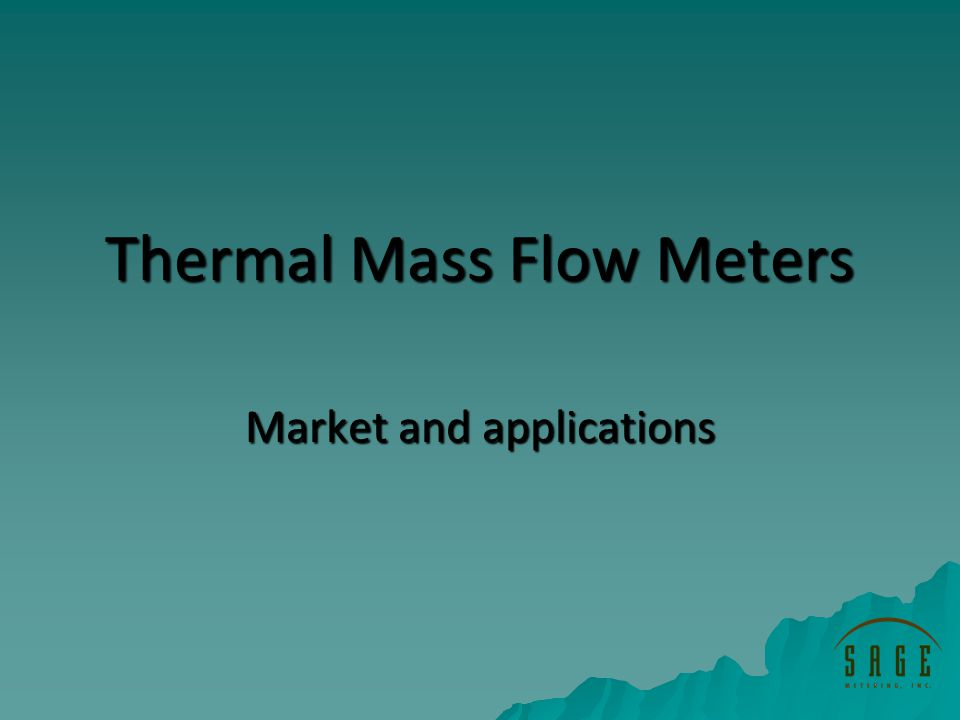 Thermal Mass Flow Meters Market and applications