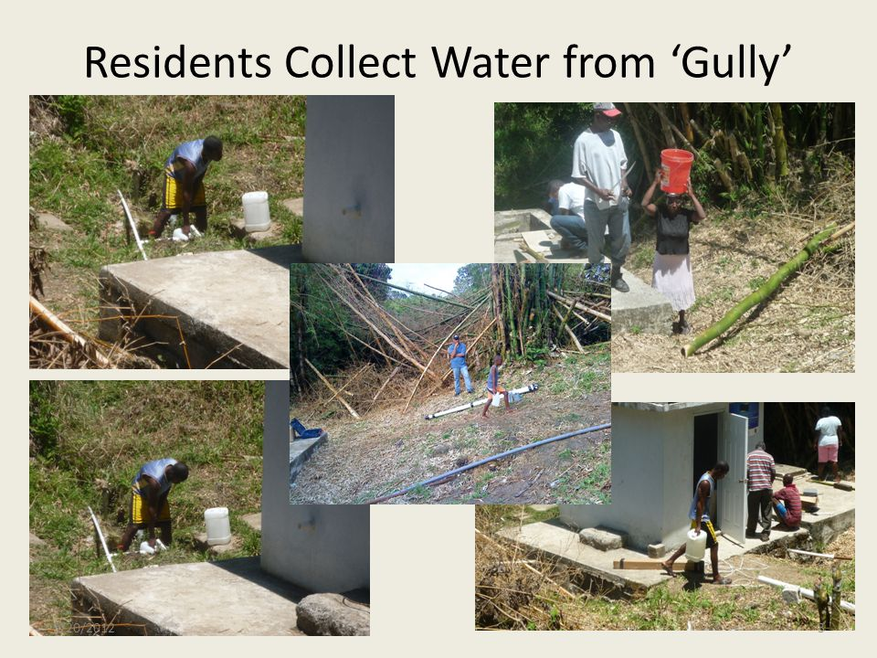 Residents Collect Water from Gully 3/20/20123