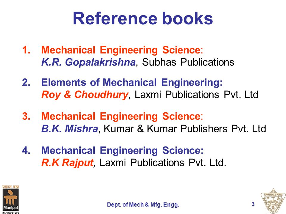 Dept.of Mech & Mfg. Engg.