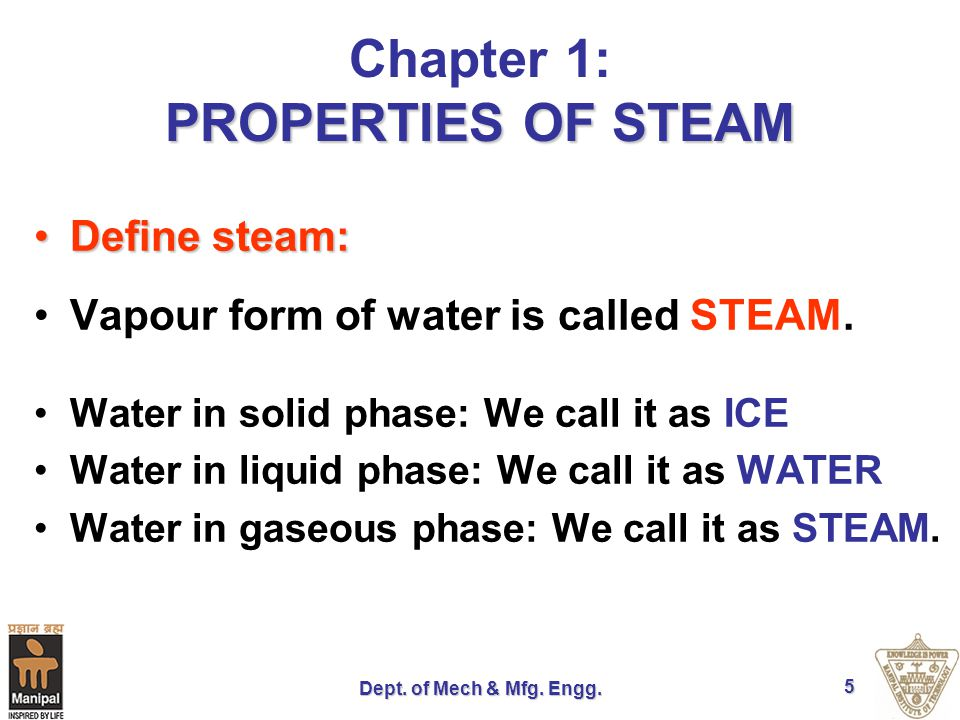 Dept.of Mech & Mfg. Engg. 6 Application of steam Food processing industry.