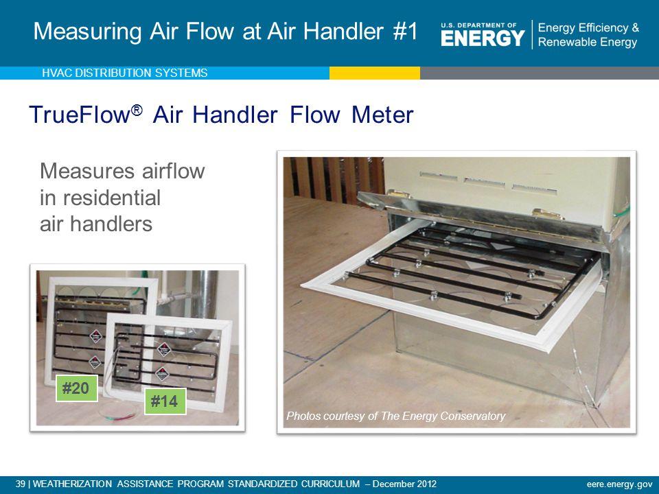 39 | WEATHERIZATION ASSISTANCE PROGRAM STANDARDIZED CURRICULUM – December 2012eere.energy.gov TrueFlow ® Air Handler Flow Meter Measures airflow in re