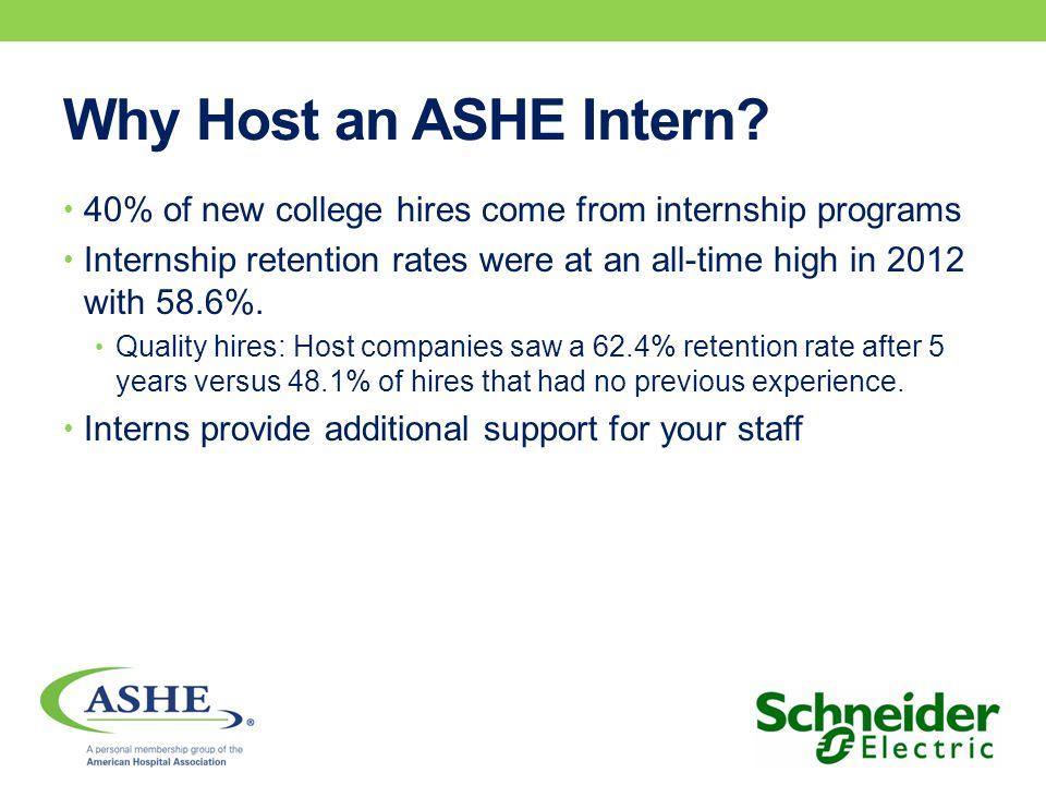 Why Host an ASHE Intern?
