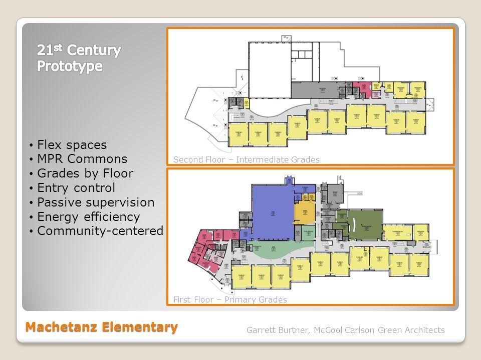 Machetanz Elementary Garrett Burtner, McCool Carlson Green Architects Flex spaces MPR Commons Grades by Floor Entry control Passive supervision Energy