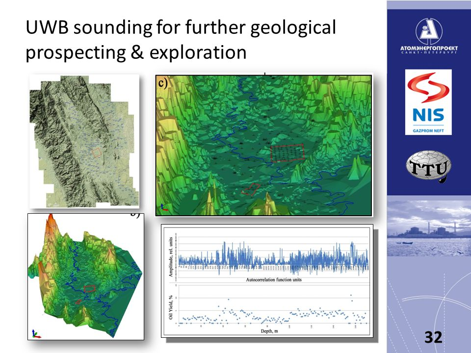 UWB sounding for further geological prospecting & exploration 32