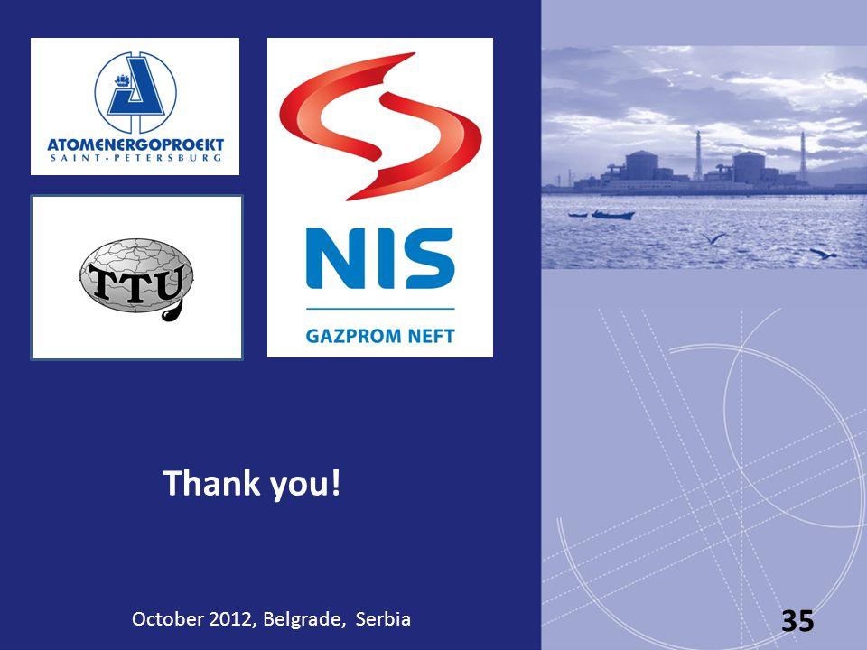 Thank you! October 2012, Belgrade, Serbia 35