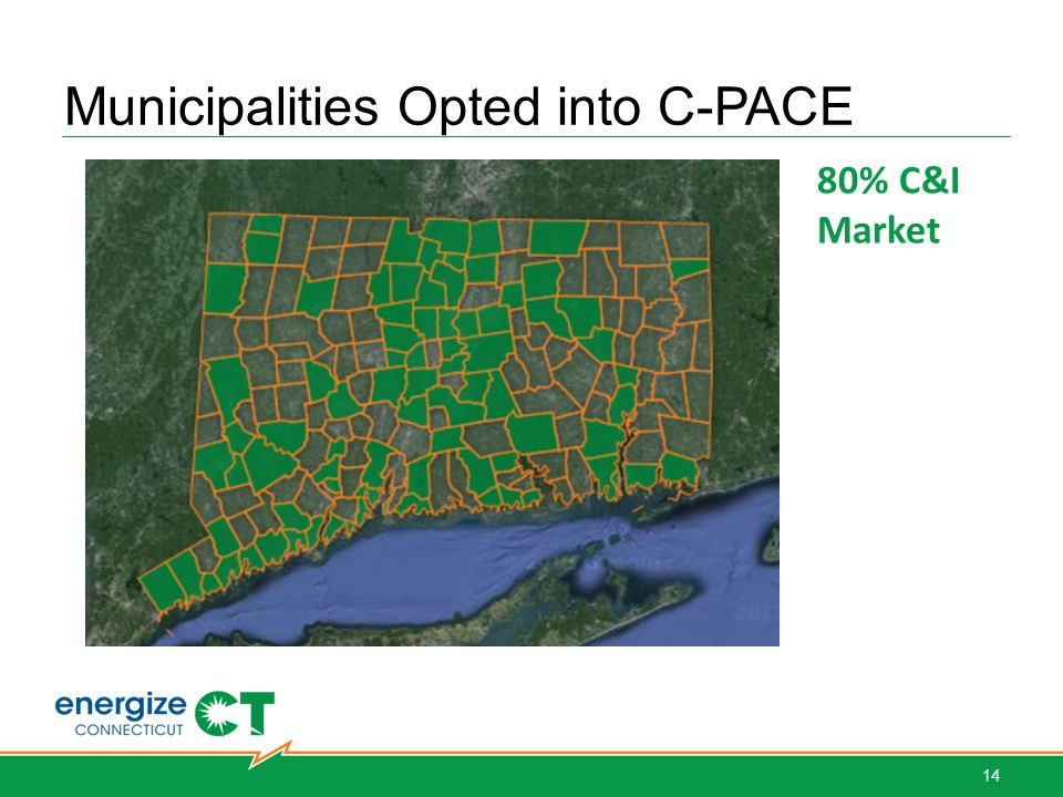 Municipalities Opted into C-PACE 80% C&I Market 14