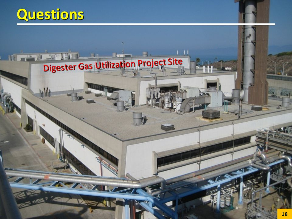 Digester Gas Utilization Project Site Questions 18