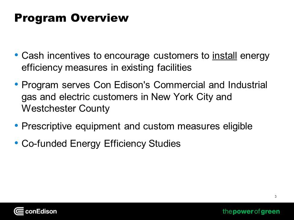 The Program Team Con Edison C&I Energy Efficiency Team Lockheed Martin Administration & Marketing Team Market Partner Network Con Edison Customers 4