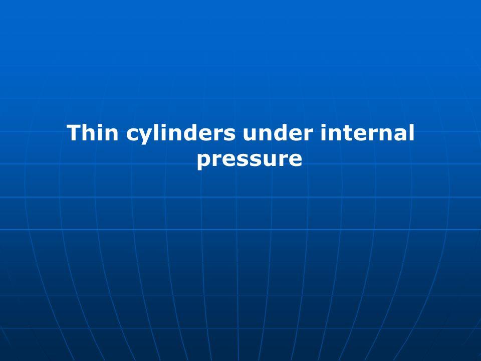 Thin cylinders under internal pressure