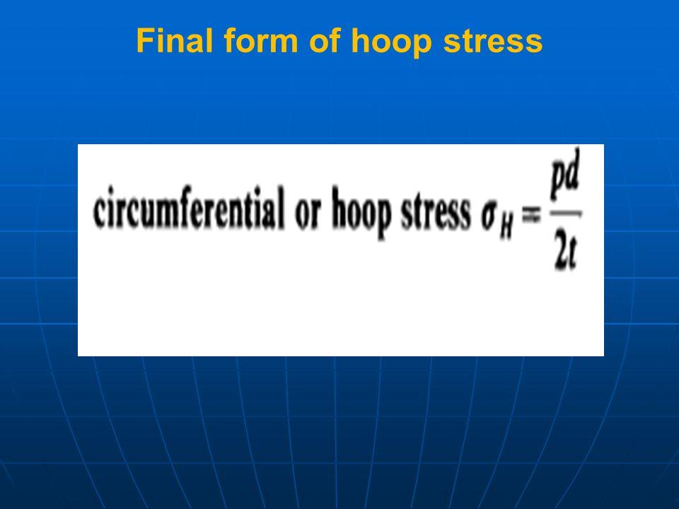 Final form of hoop stress