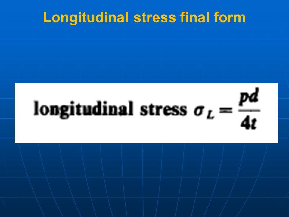 Longitudinal stress final form