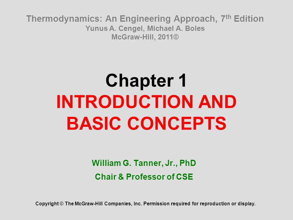 32 Summary Thermodynamics and energy Application areas of thermodynamics Importance of dimensions and units Some SI and English units, Dimensional homogeneity, Unity conversion ratios Systems and control volumes Properties of a system Density and specific gravity State and equilibrium The state postulate Processes and cycles The steady-flow process Temperature and the zeroth law of thermodynamics Temperature scales Pressure Variation of pressure with depth The manometer and the atmospheric pressure Problem solving technique