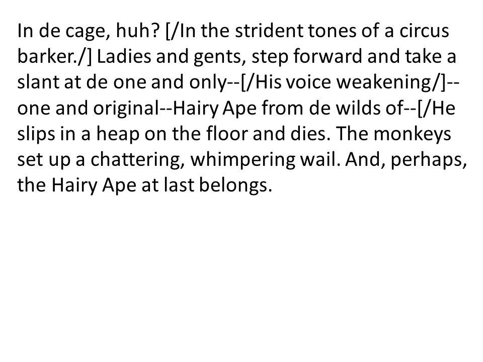 In de cage, huh.