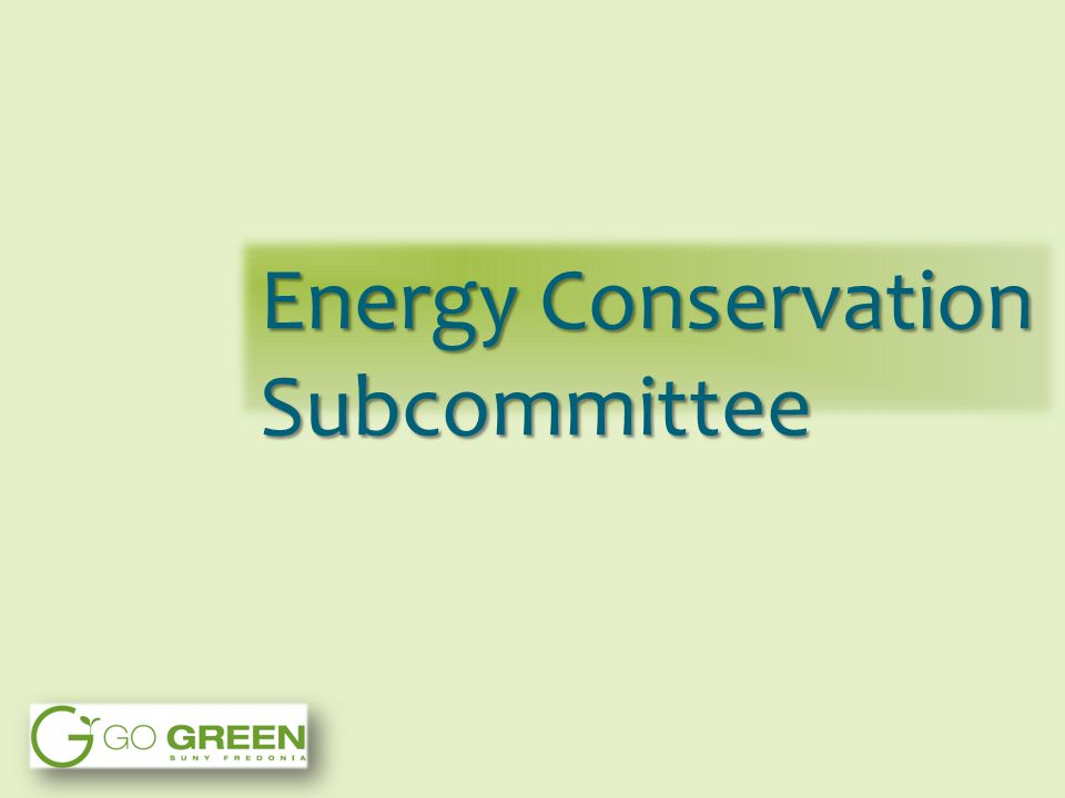 Energy Conservation Subcommittee