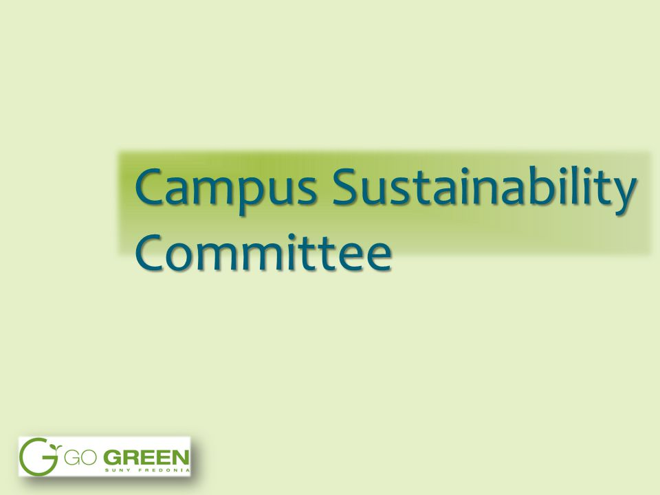 Campus Sustainability Committee