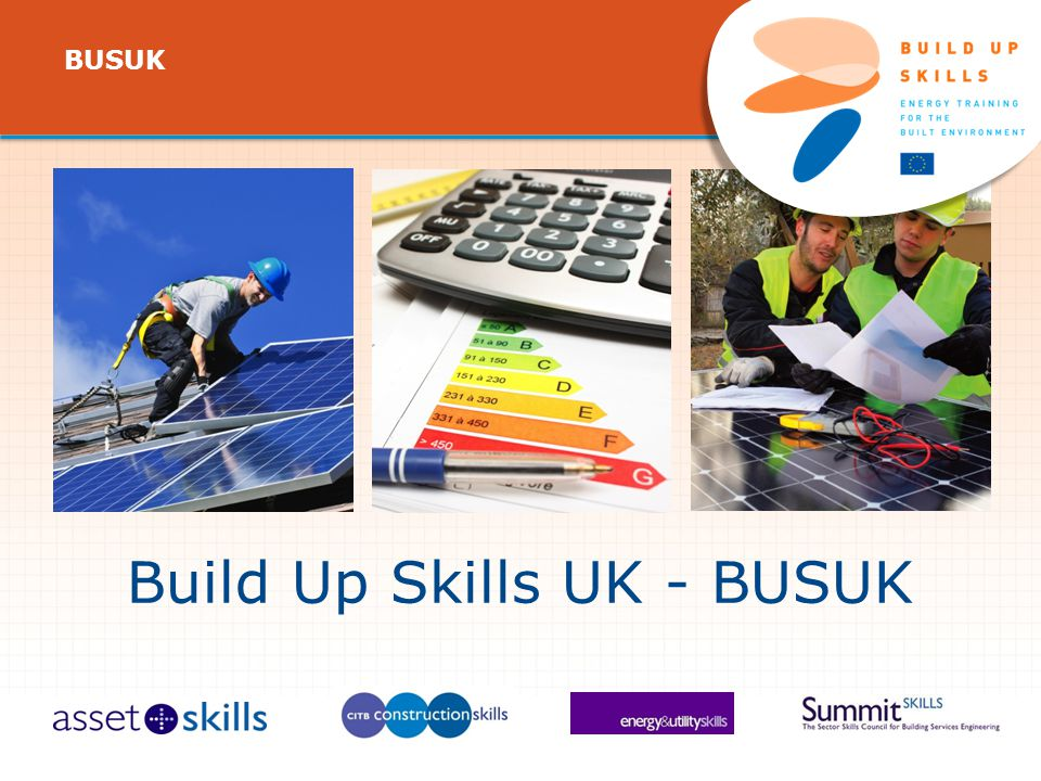 Build Up Skills UK - BUSUK IEE/11/BW1/479/S , 11/ /13, BUSUK