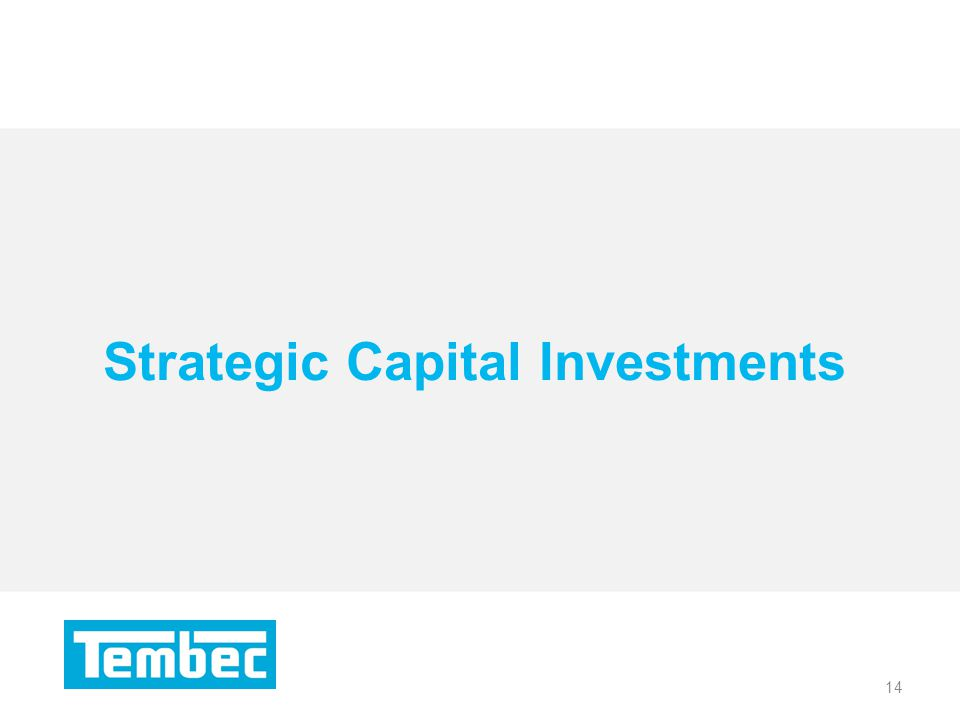 14 Strategic Capital Investments 14