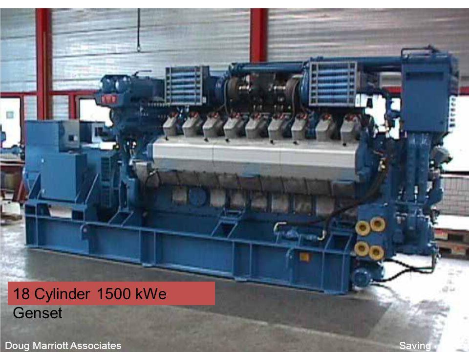 Chartered Consulting Engineers Doug Marriott Associates Saving Business Energy 18 Cylinder 1500 kWe Genset