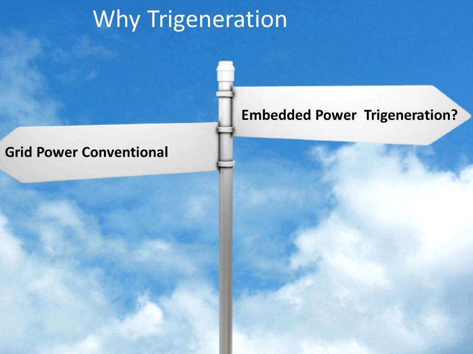 Chartered Consulting Engineers Grid Power Conventional Embedded Power Trigeneration.