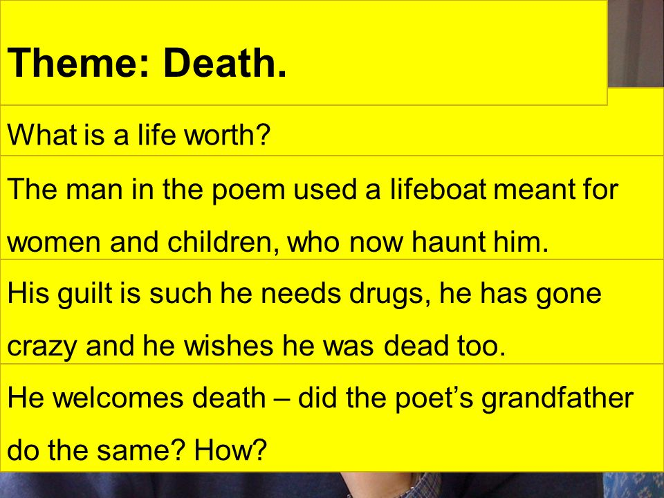 What is a life worth. Theme: Death.